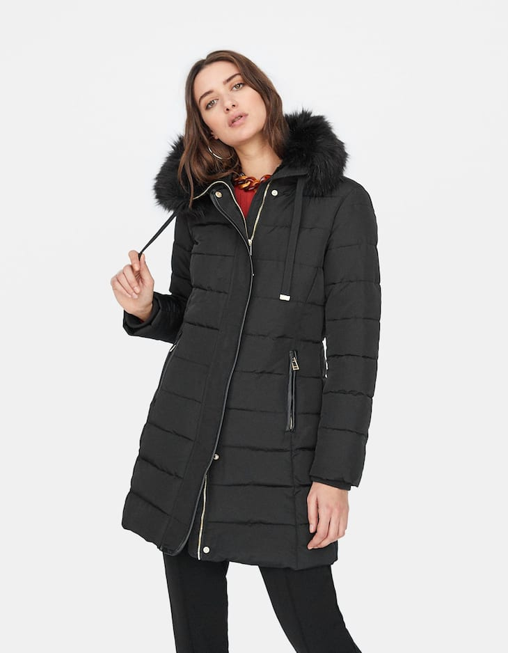 Long tailored anorak
