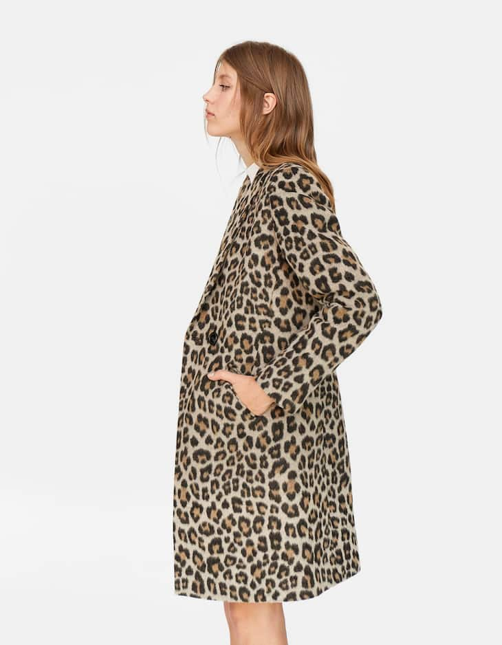 Basic leopard print coat