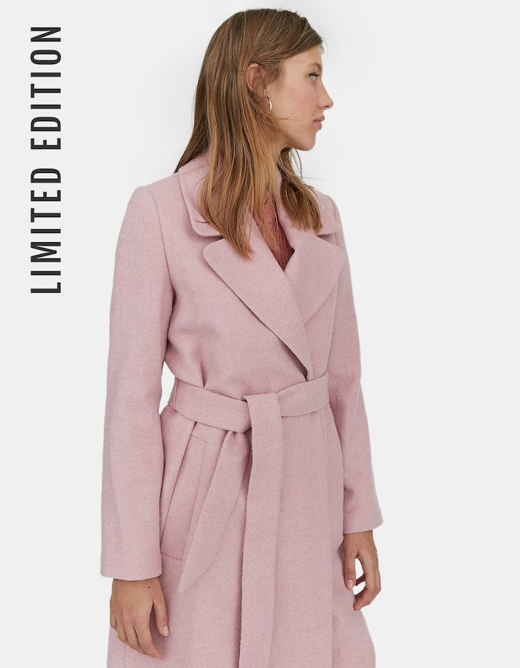 Limited Edition woolly coat with belt