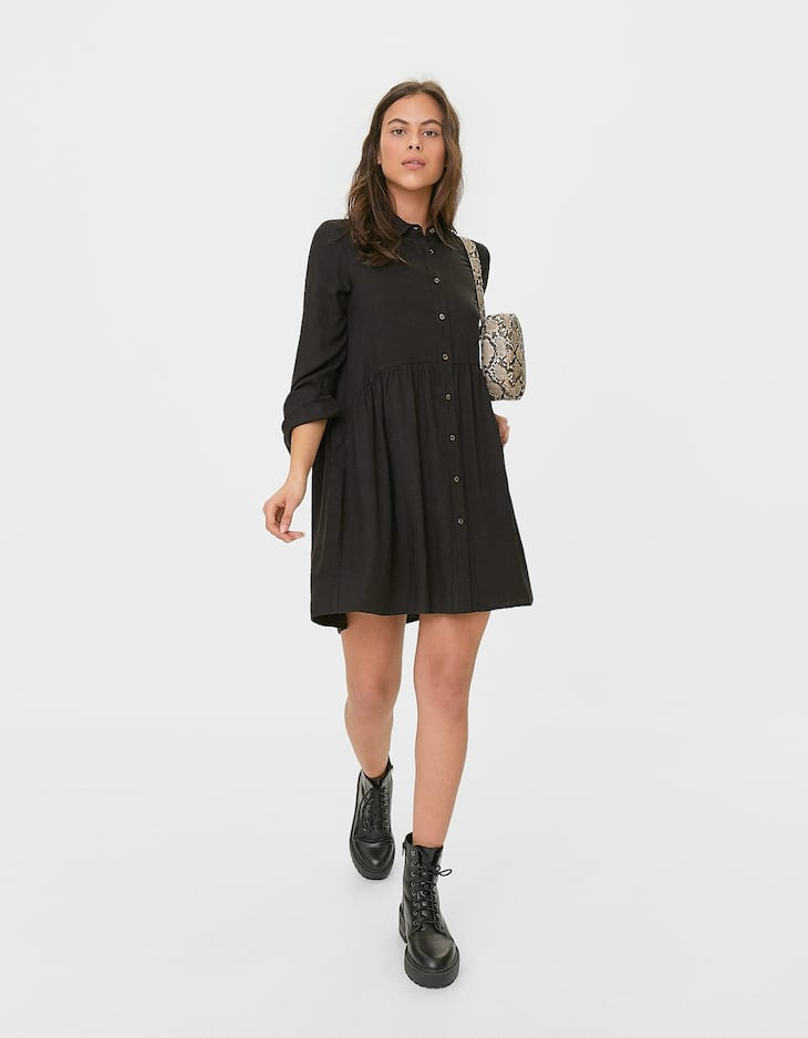 Plain shirt dress