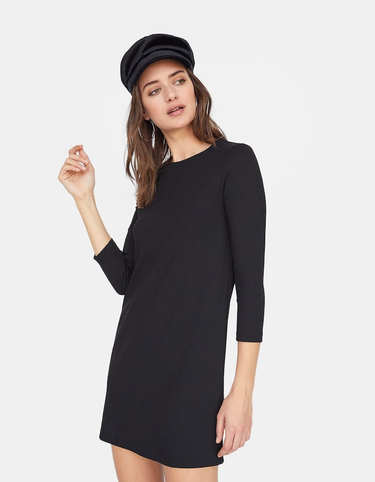 3/4 sleeves sleeve A-line dress