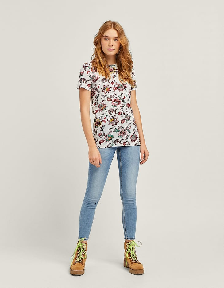 Short sleeve printed T-shirt