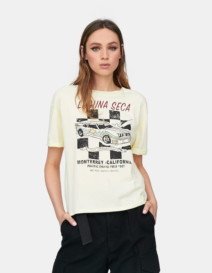T-shirt imprimé course automobile Join Life