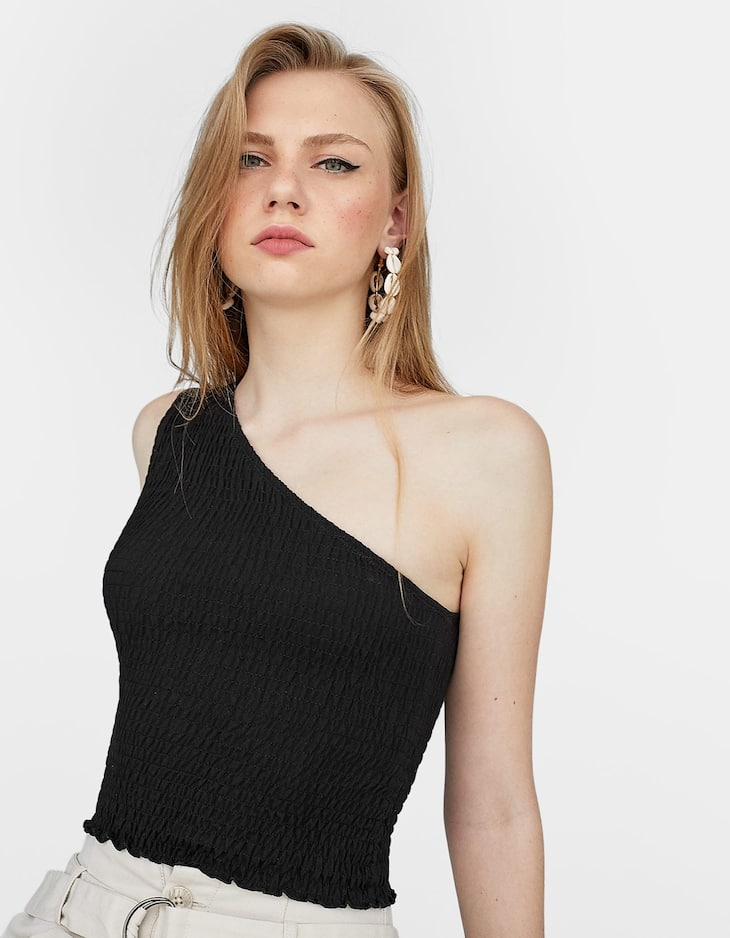 Top with asymmetric strap.