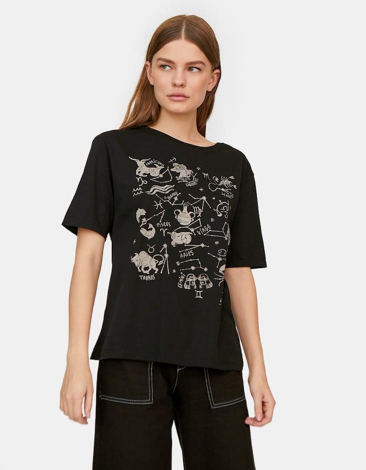 Camiseta manga corta print astral