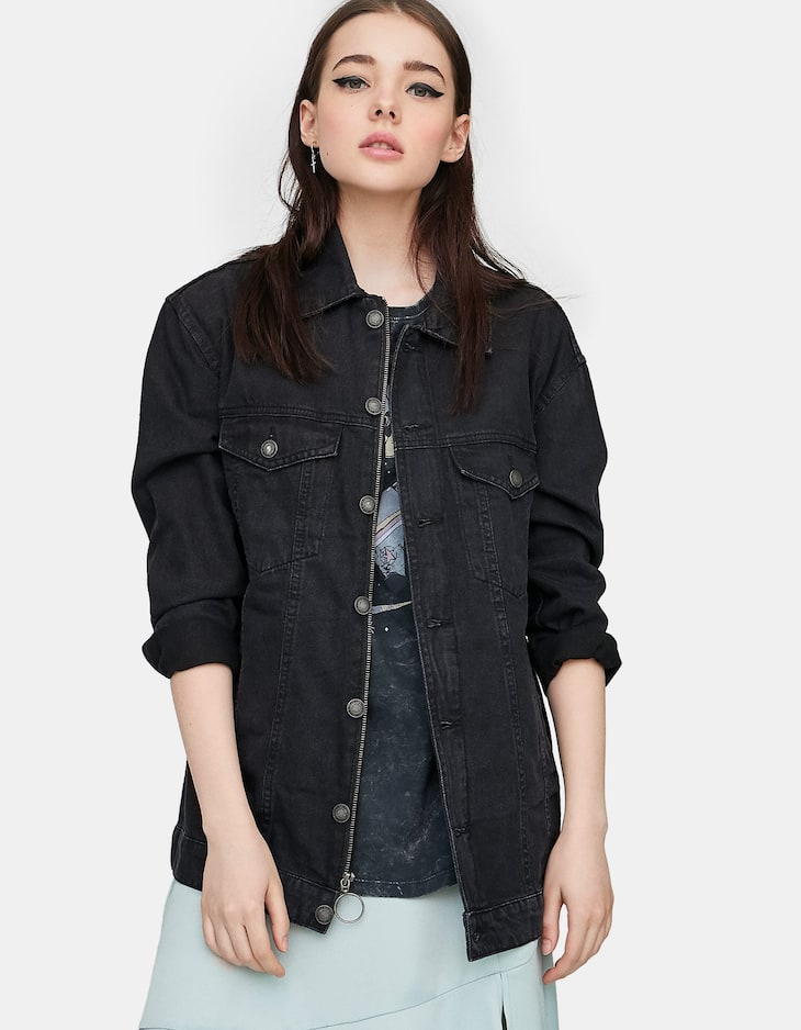 Basic oversized denim jacket