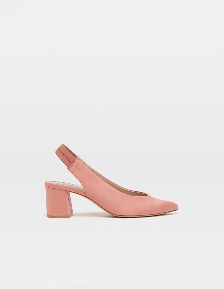 Zapatos destalonados rosa