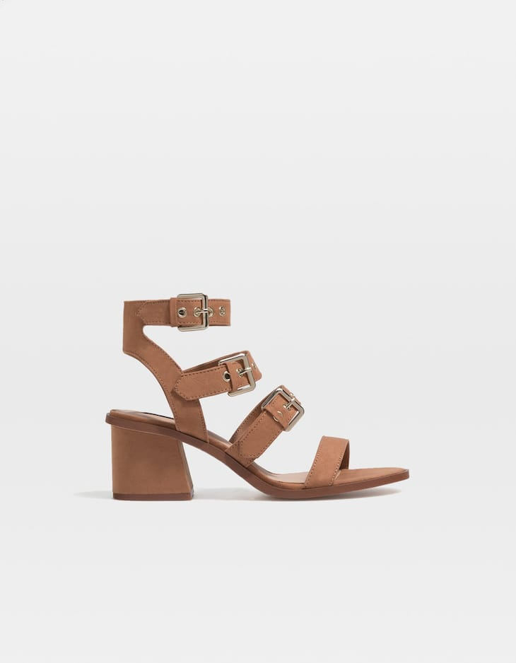 PricesStradivarius High With Sandals Special Buckles Heel TFc5KJlu13