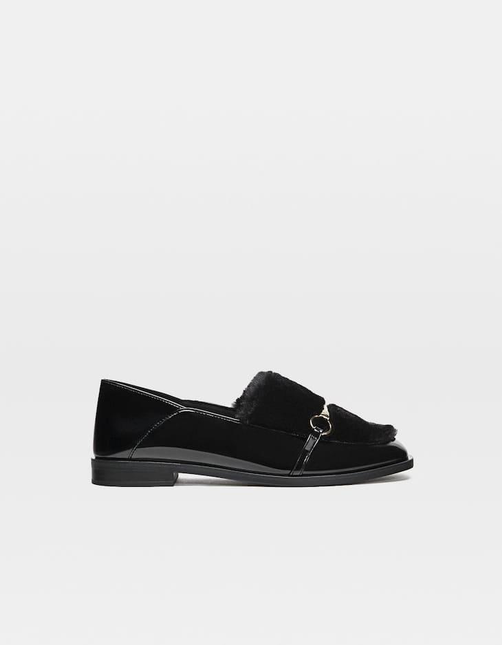 Pelo Zapatos Planos Negro Planos Zapatos Pelo Negro Planos Pelo Zapatos MUVzqpSG