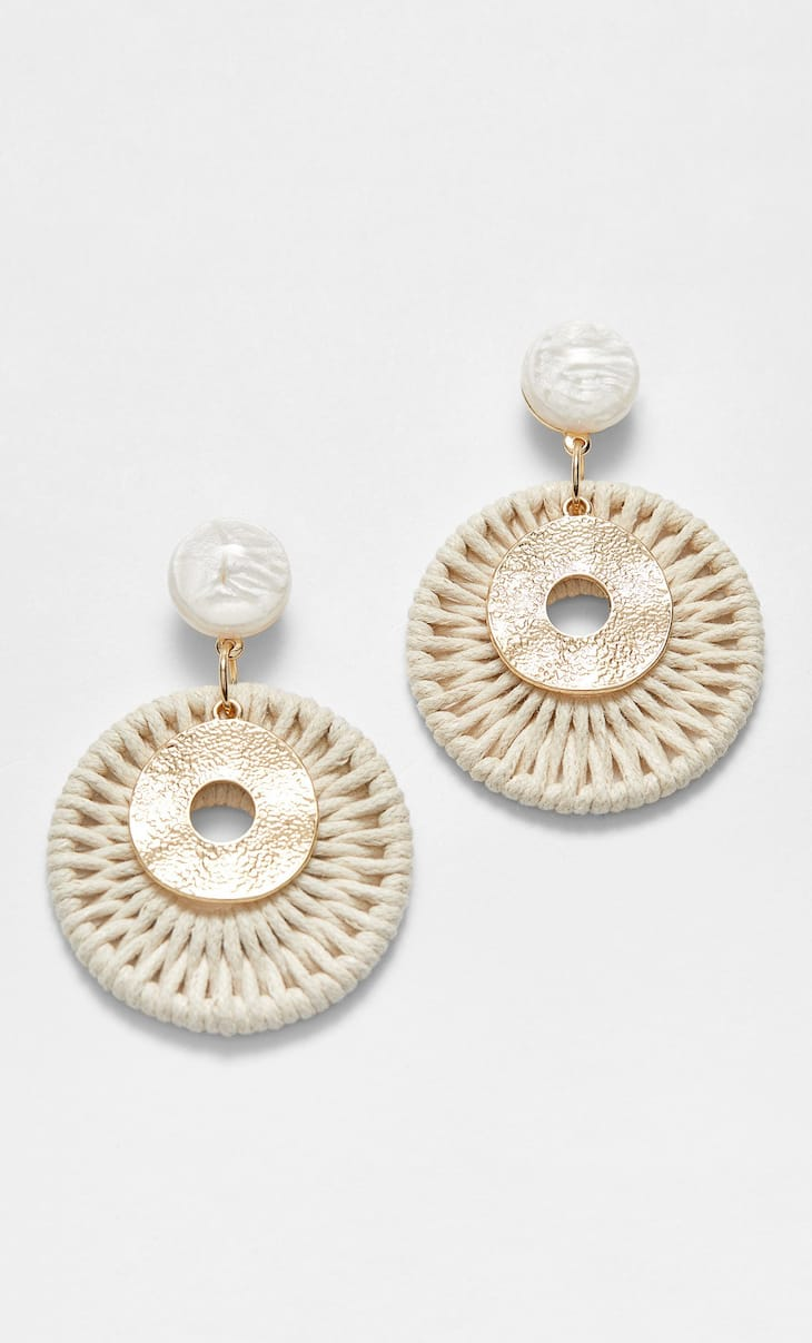 STR natural thread earrings