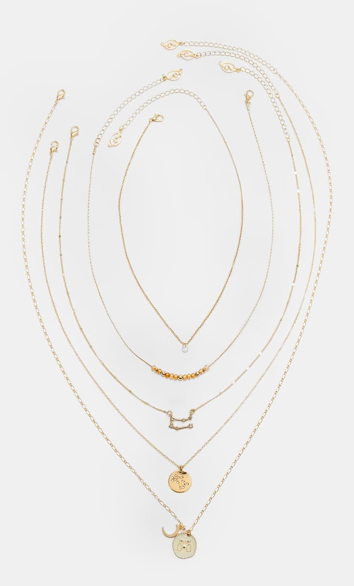 Set of 5 Gemini necklaces