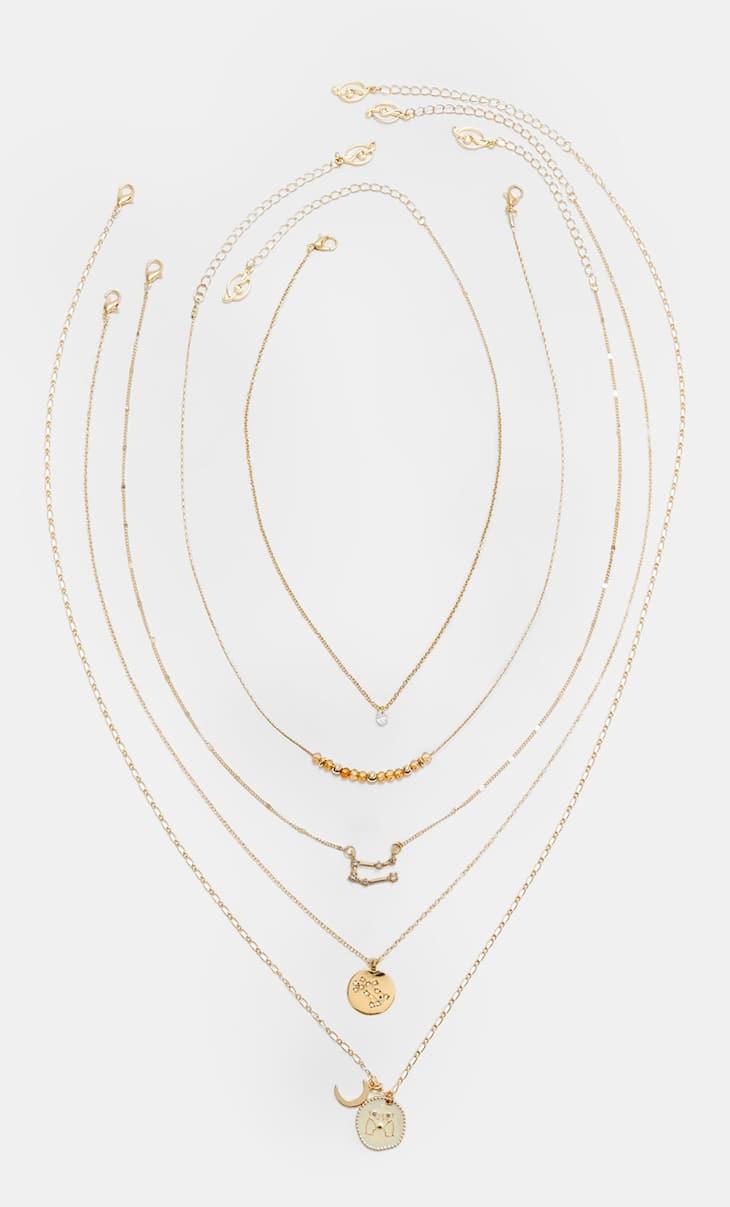 Set 5 collares geminis