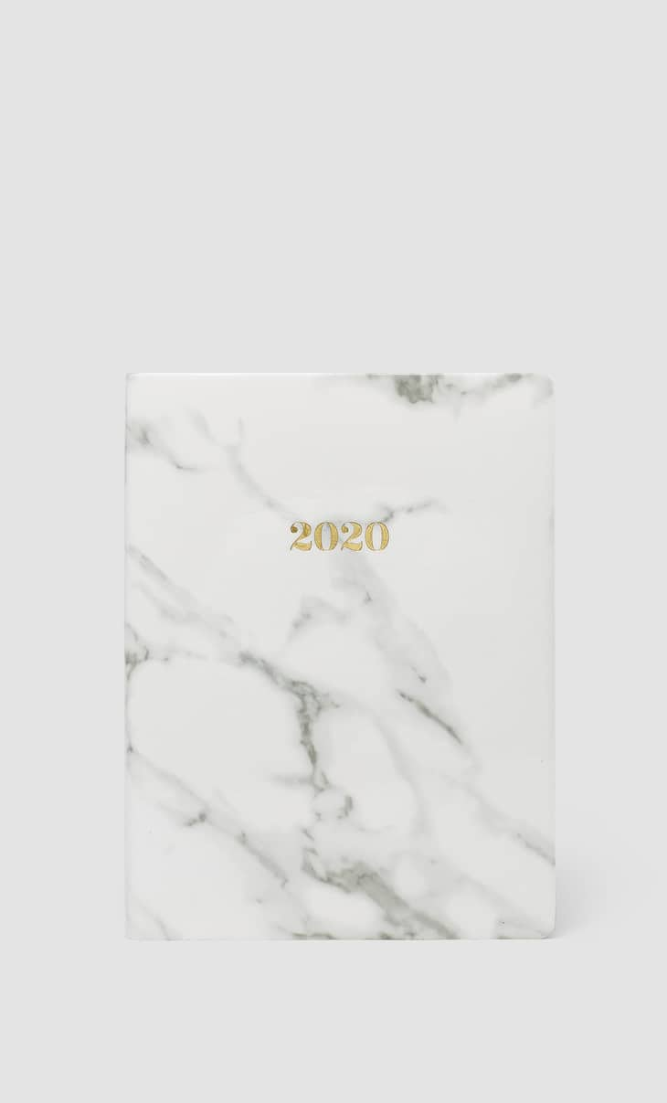 Marble-effect 2020 diary
