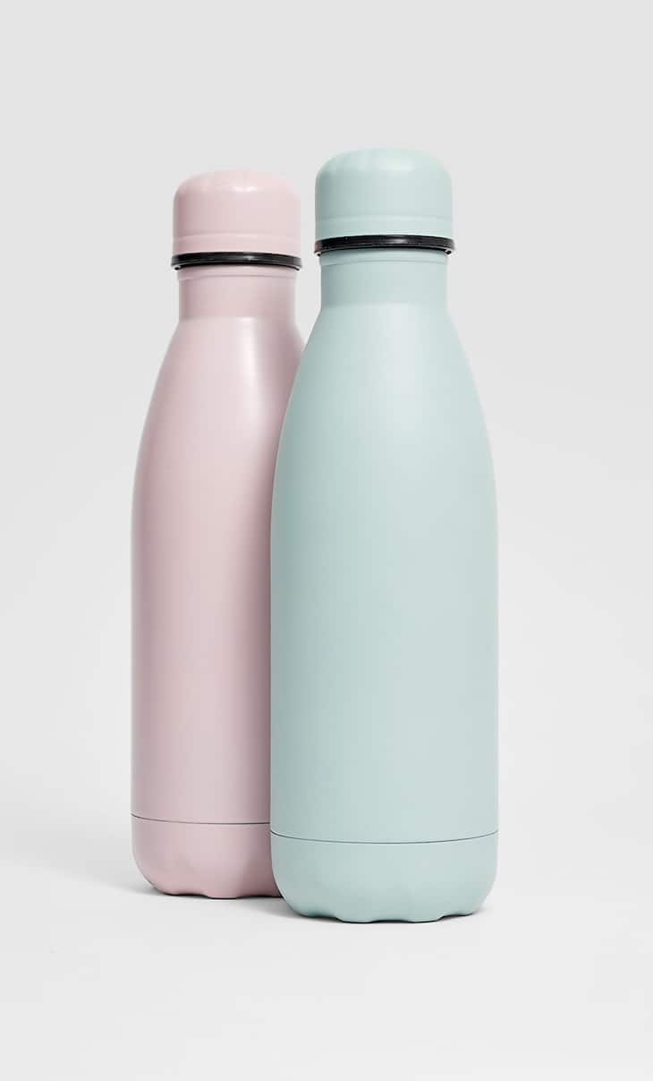 Coloured metallic flask