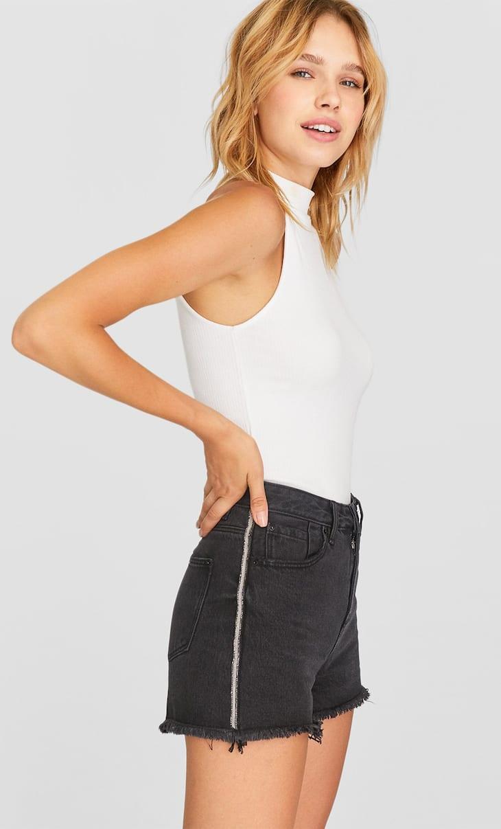 Shorts mit hohem Bund im Vintage-Stil