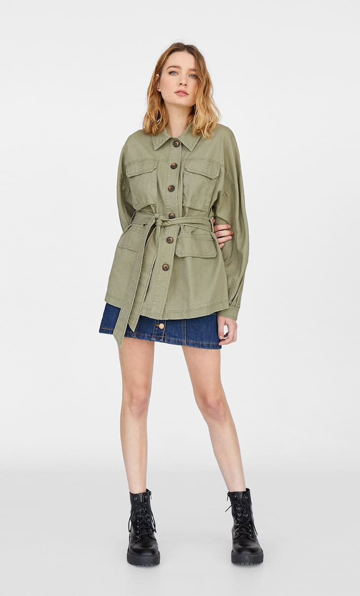 Safari jacket. Button-up front