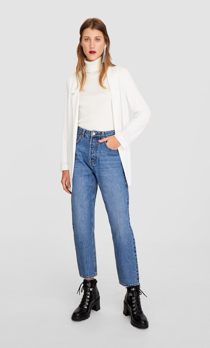 Plain flowing blazer