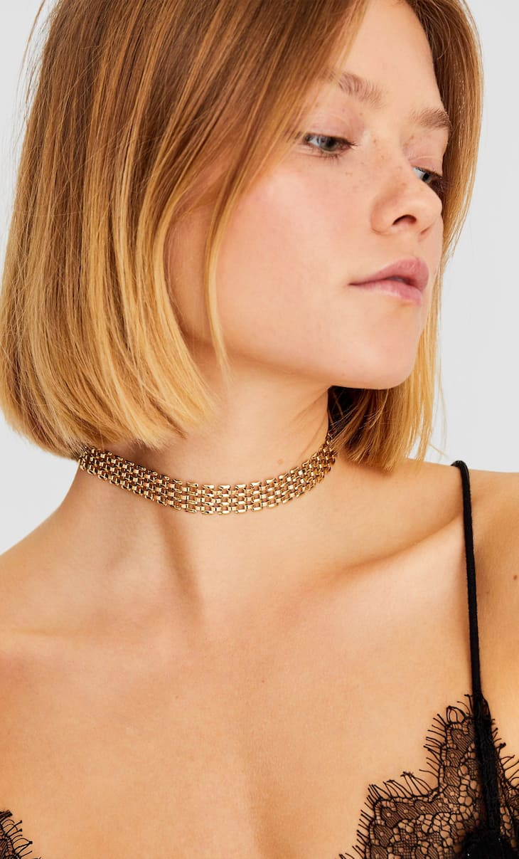 Set 3 chokers metal