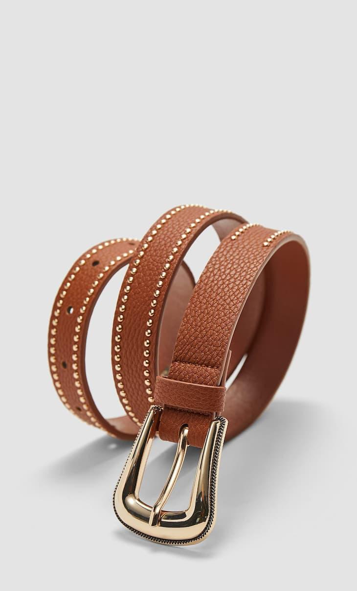Cinturón cowboy tachas