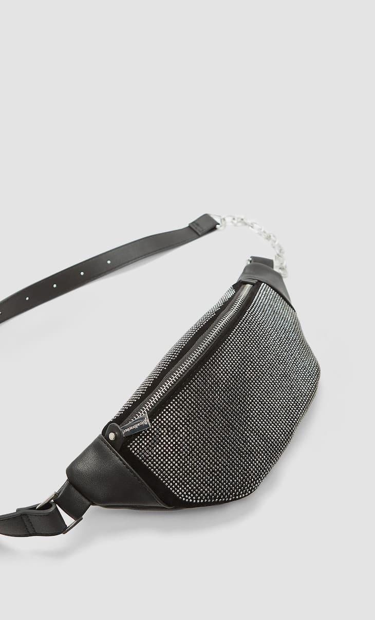 Поясная сумка со стразами
