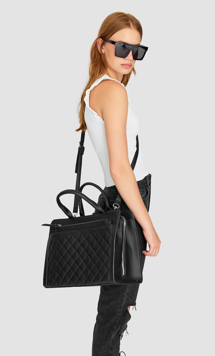 Maxi quilted tote bag