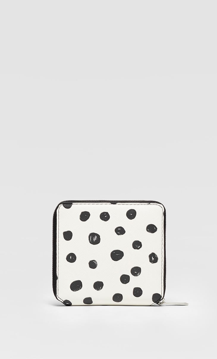 Square polka dot purse