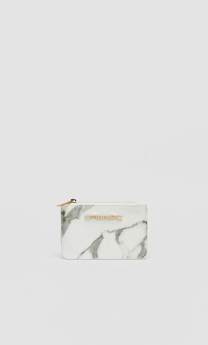 Marble-effect card holder