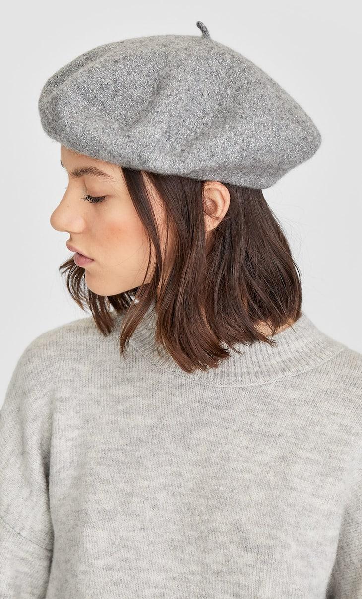 Boina lana con lurex