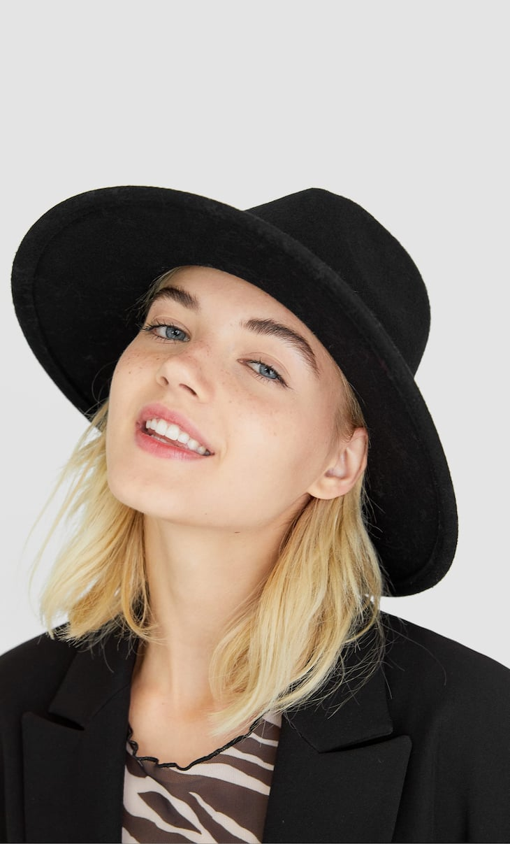 Cappello fedora in lana