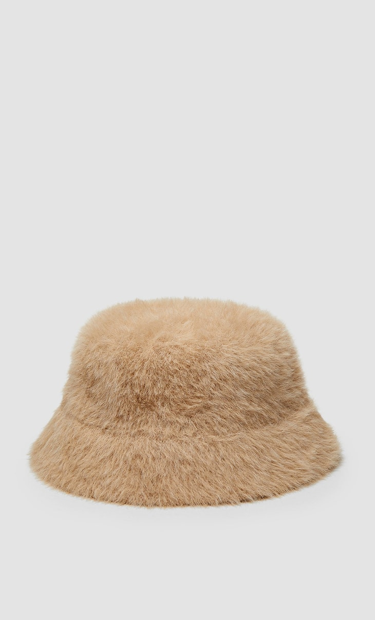 Beige bucket hat