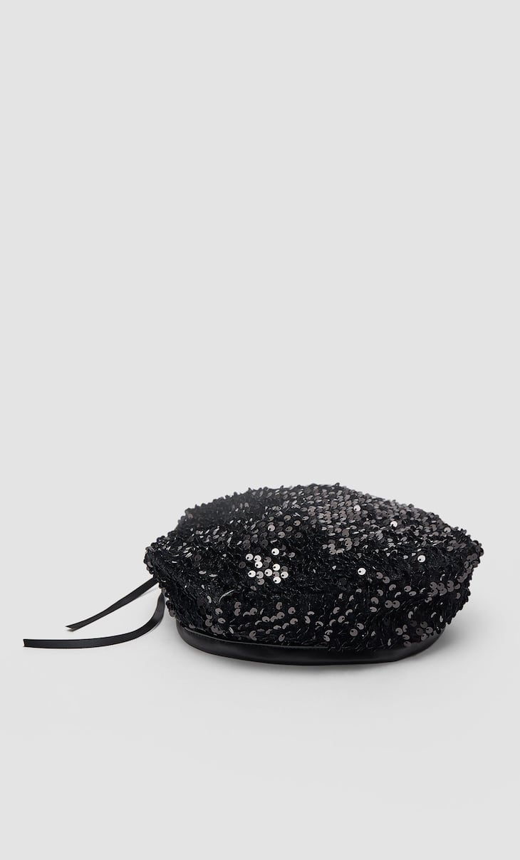 Sequinned beret