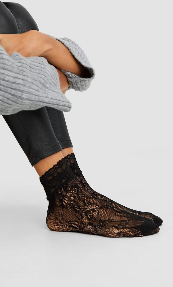 2-pack of blonde lace socks