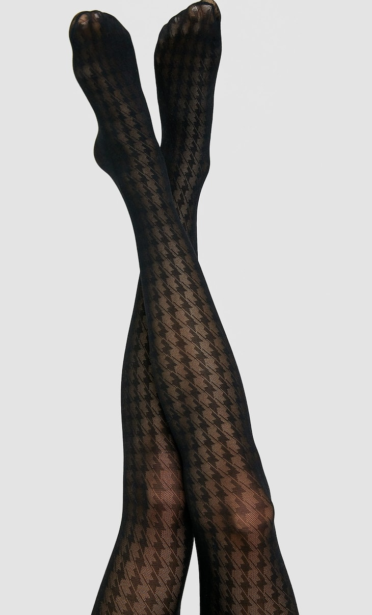 Houndstooth tights