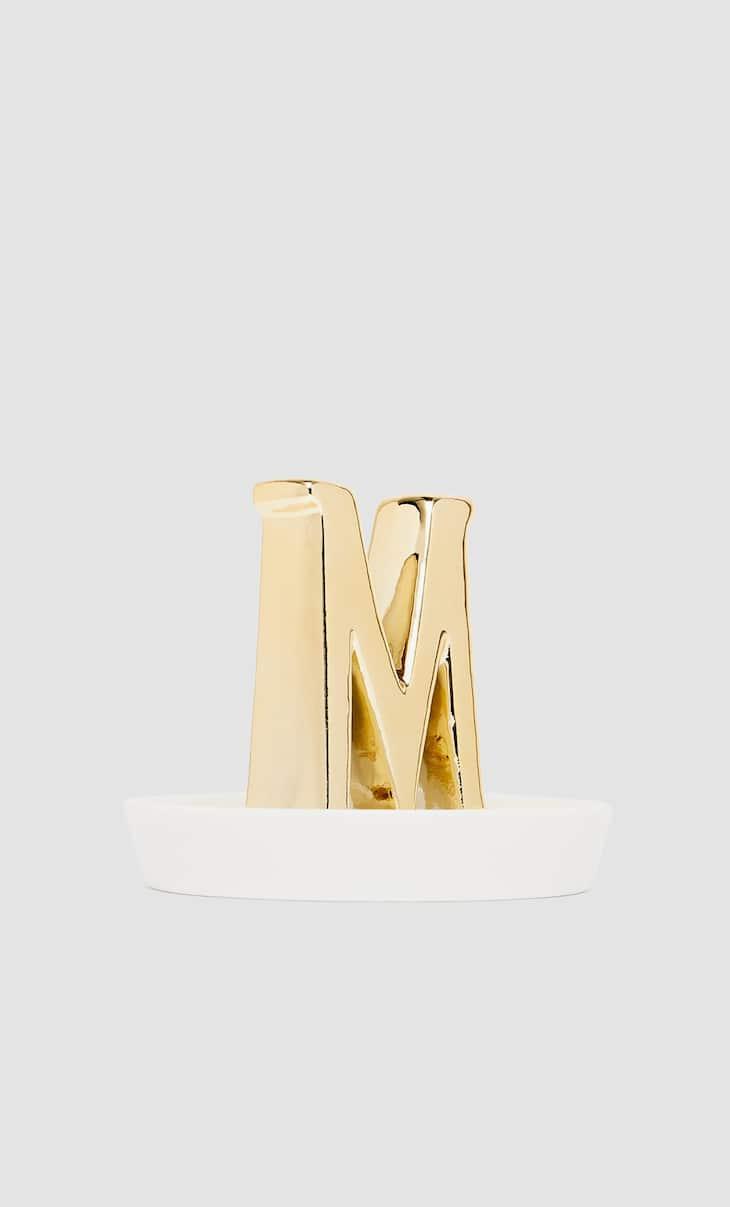 Letter M dish