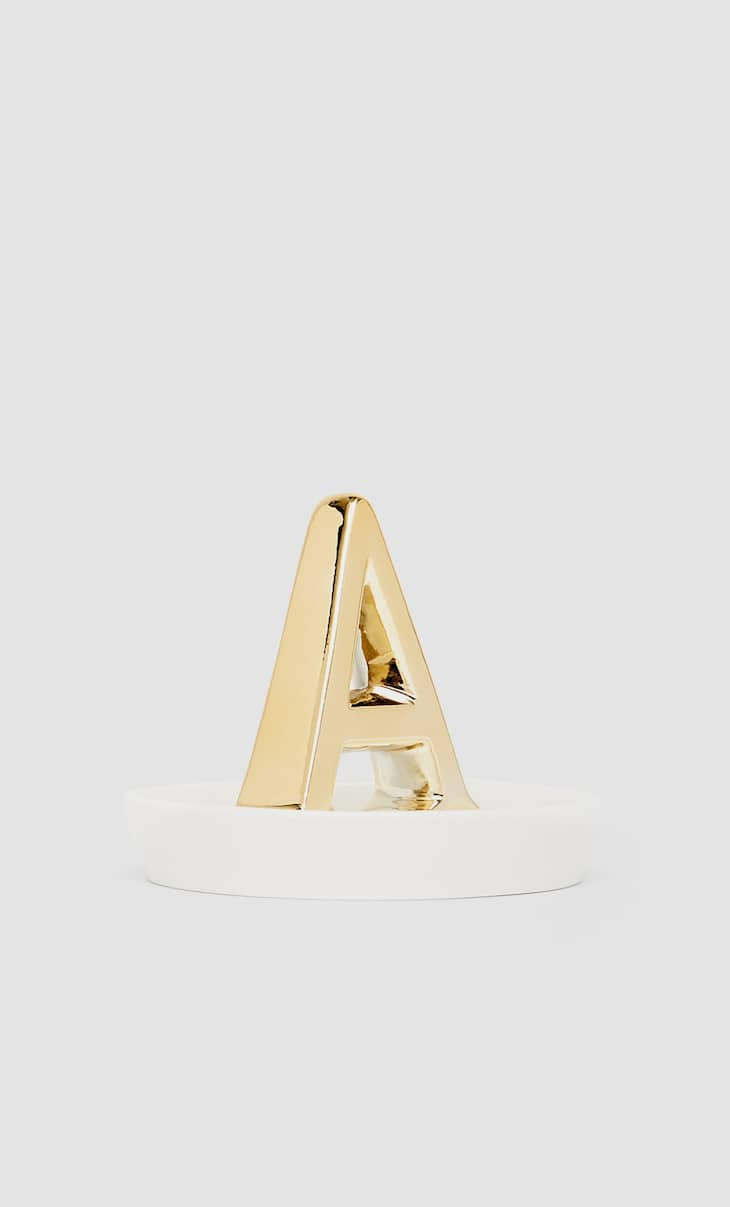 Letter A dish