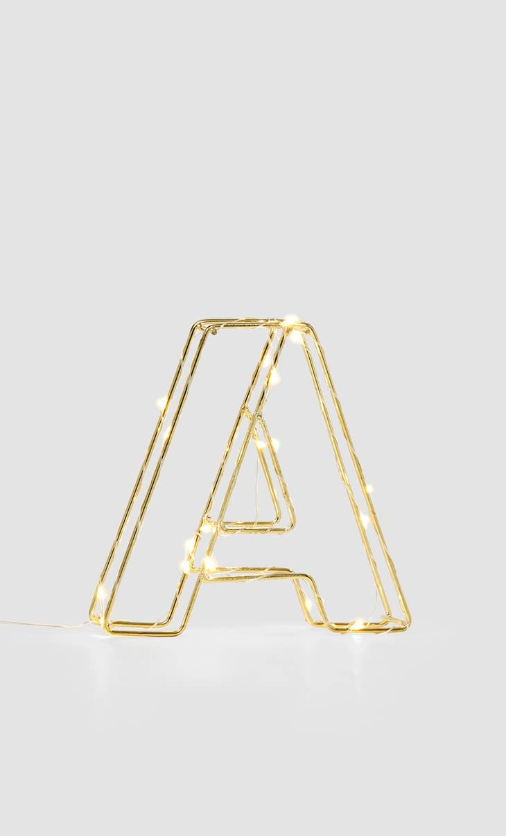 Letter A light decoration