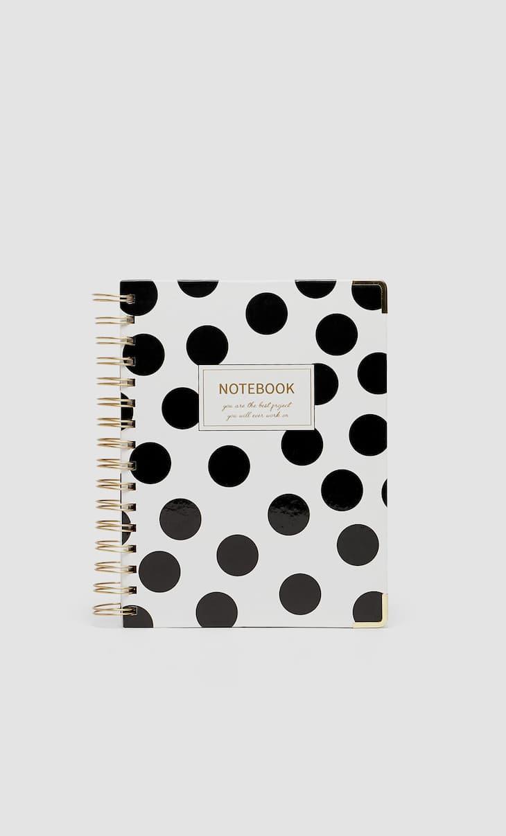 Caderno premium dots