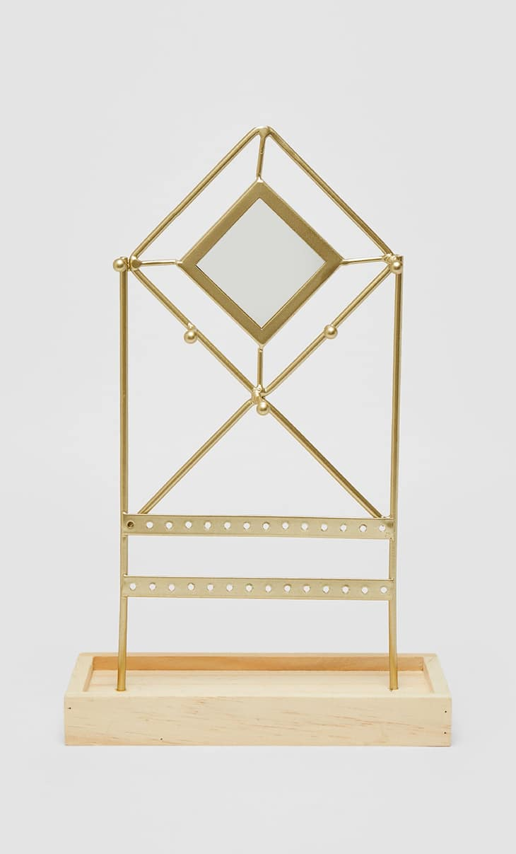 Diamond mirrored jewellery stand