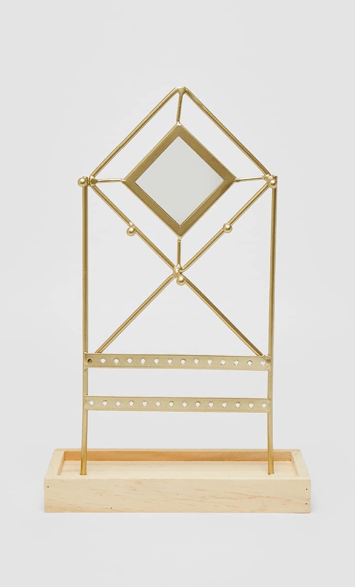 Schmuckständer mit rautenförmigem Spiegel