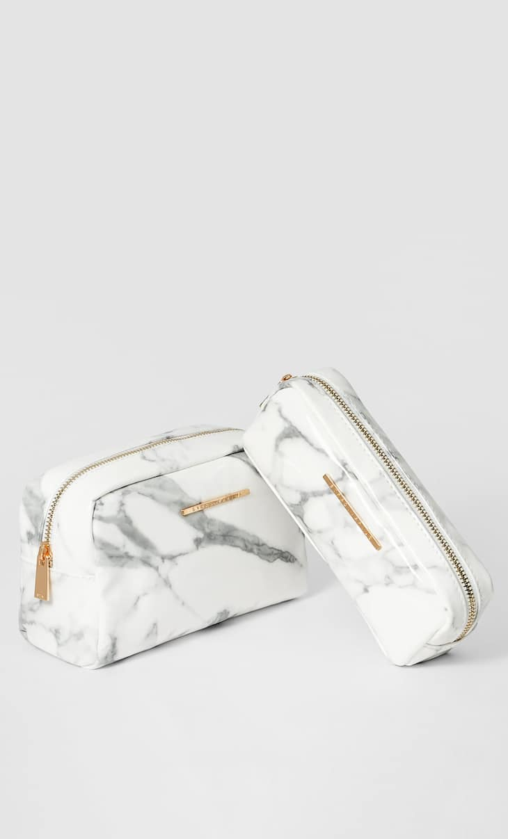 Marble print toiletry bag