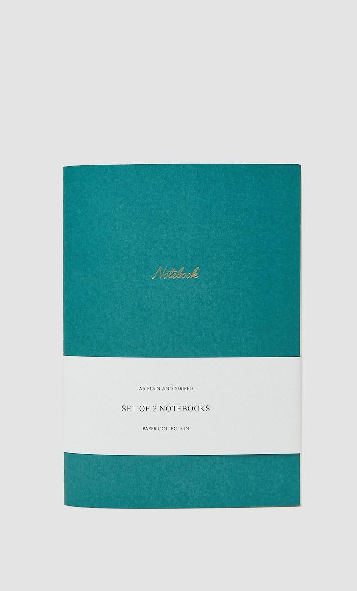 Set van notitieboekjes met bloemetjesprint