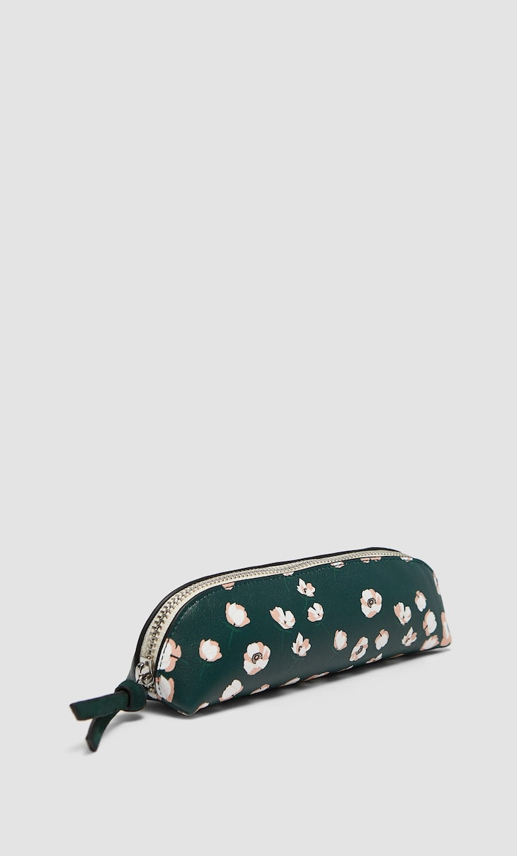 Pencil case with small floral print