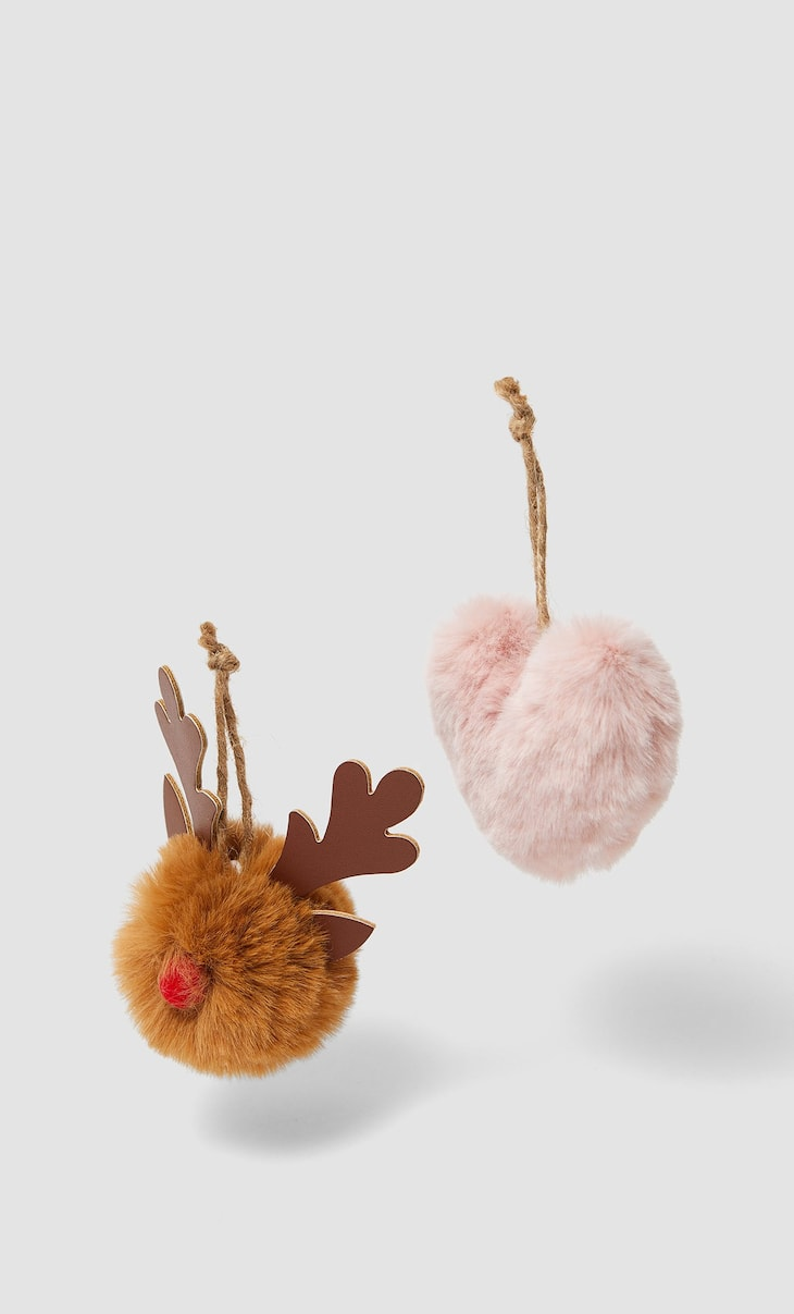 Set of 2 tree ornaments
