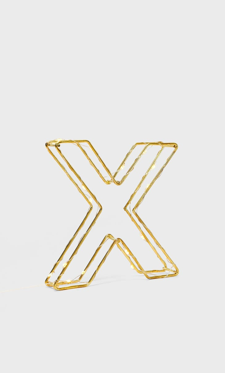 Letter X light decoration