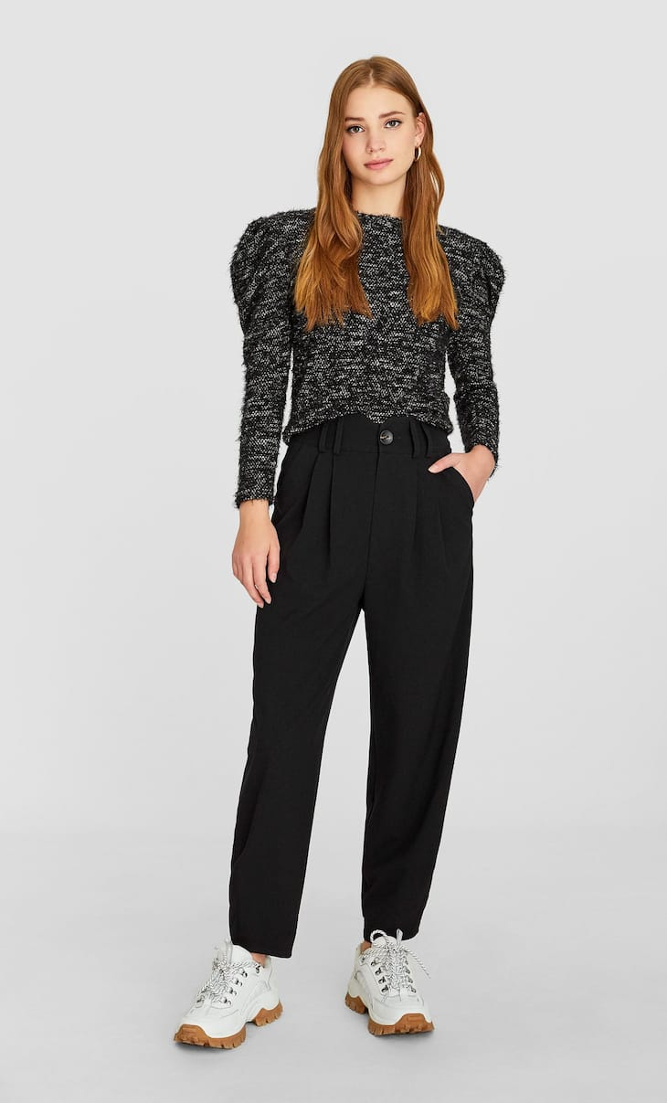 Tailored slouchy trousers