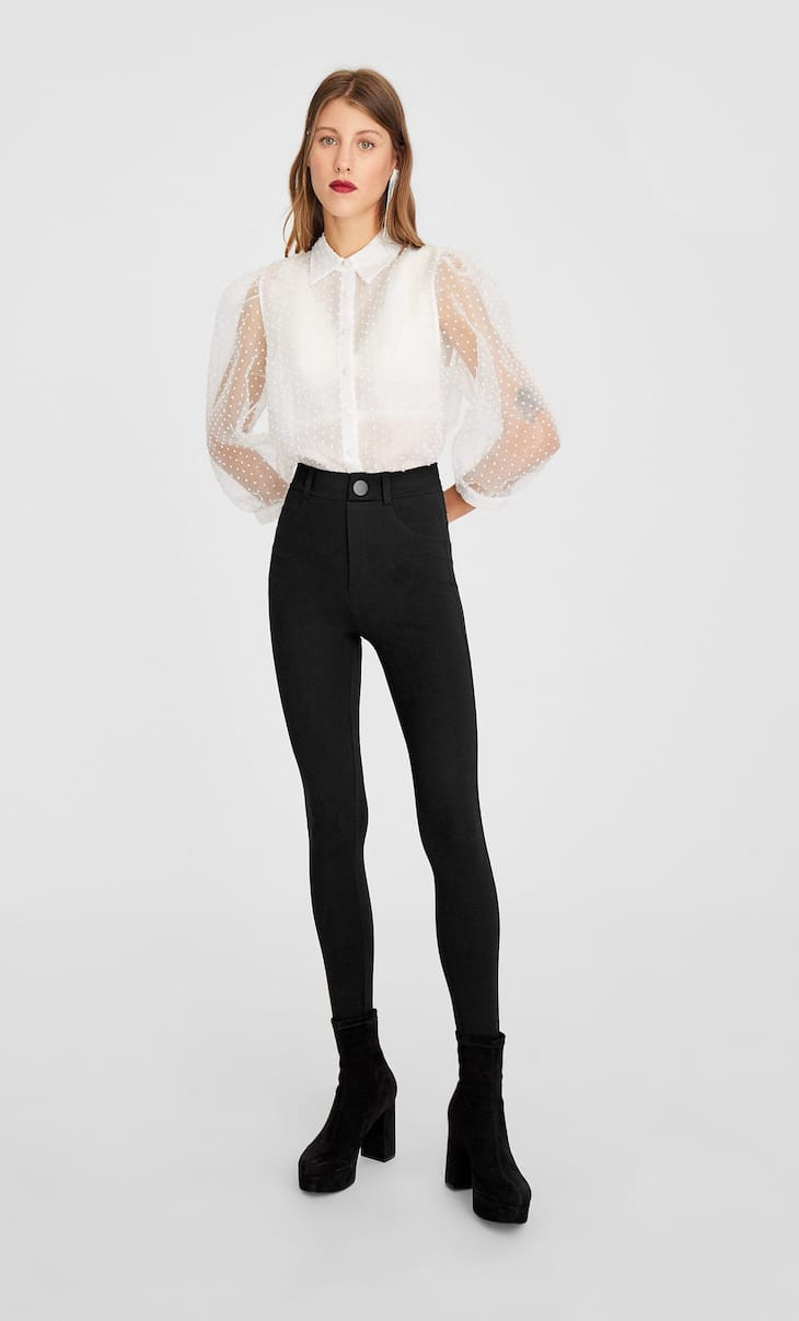 High-waist contour leggings