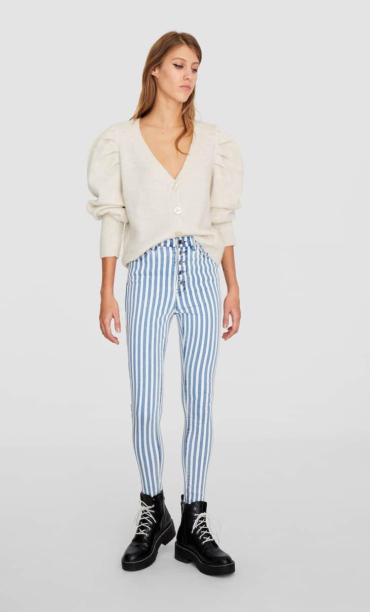 Jeans met superhoge taille