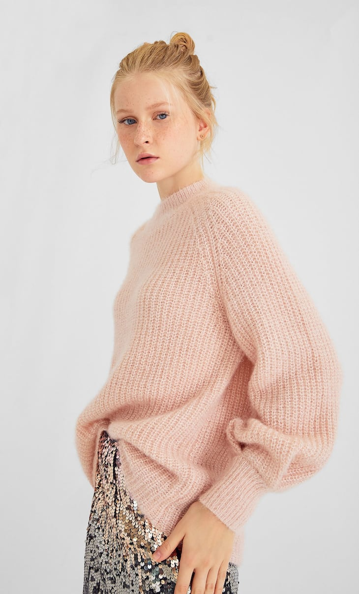 Metallic thread sweater