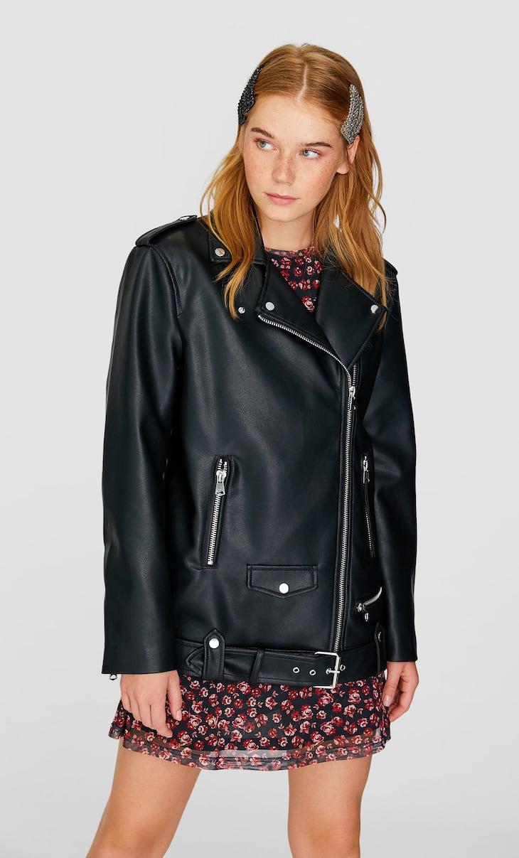Oversized biker jacket