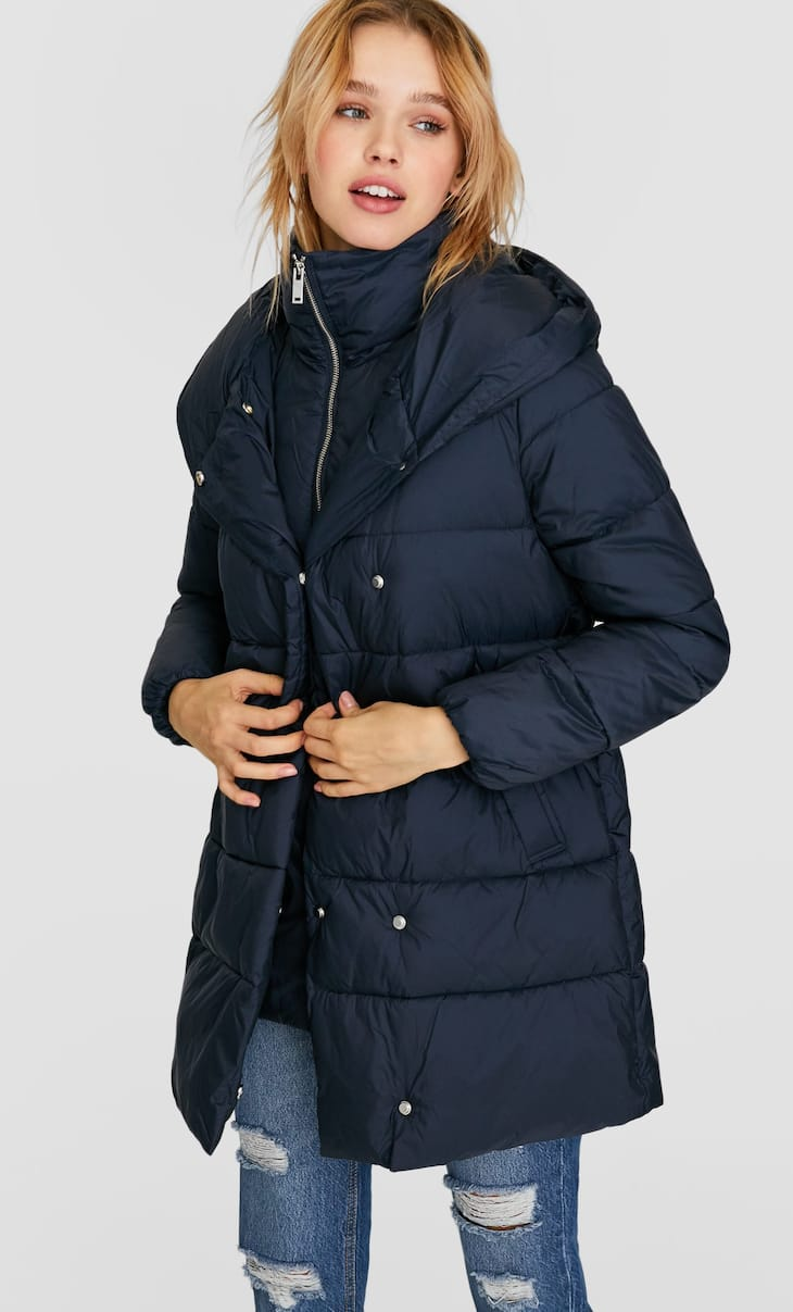 Limited Edition quilted coat with layered collar